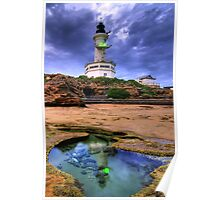 Lighthouse Rockpool Poster