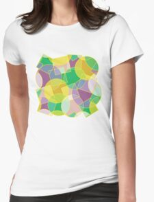 Colorful abstract geometric pattern Womens Fitted T-Shirt
