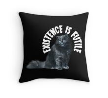 Futile Cat Throw Pillow