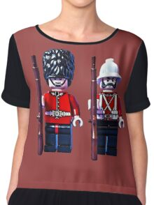 Brothers in arms by Tim Constable Chiffon Top