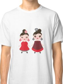 Flamencas in red and black Classic T-Shirt