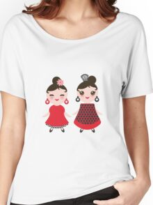 Flamencas in red and black Women's Relaxed Fit T-Shirt