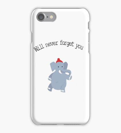 Cute Elephant never forgets iPhone Case/Skin