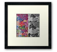 Contrast Floral Panels  Framed Print