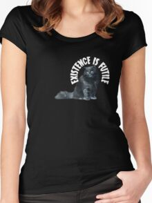 Futile Cat Women's Fitted Scoop T-Shirt