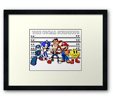 The Usual Videogames Suspects Framed Print