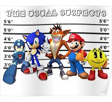 The Usual Videogames Suspects Poster