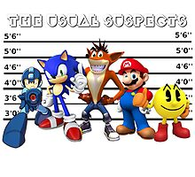 The Usual Videogames Suspects Photographic Print