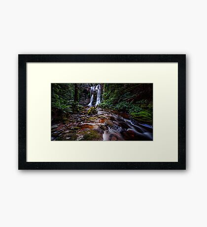 The Falls in Rainforest Framed Print