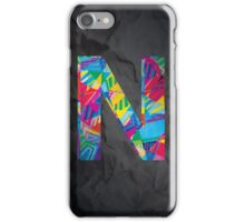 Fun Letter - N iPhone Case/Skin