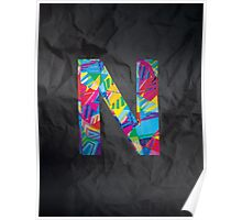Fun Letter - N Poster