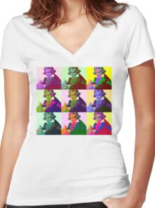 Ludwig Van Beethoven (1712-73) Women's Fitted V-Neck T-Shirt