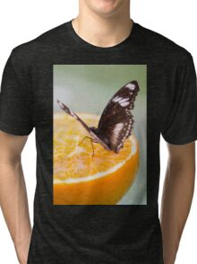 butterffly on fruit Tri-blend T-Shirt