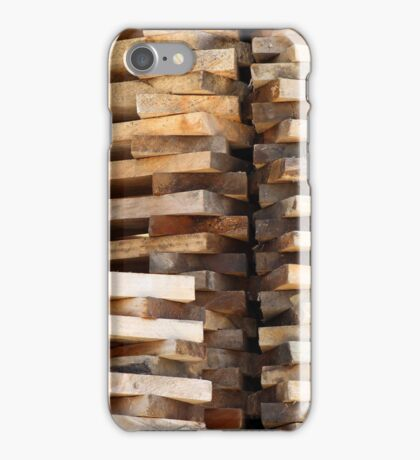 Stacked Wood Boards iPhone Case/Skin