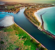 Mayne River Vertical Pano by hangingpixels