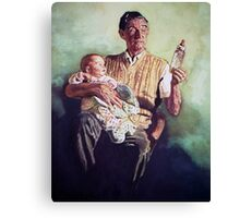 Babysitting Canvas Print