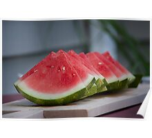 Sliced Watermelon Poster
