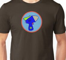 Astro Blaster Shooting Badge Unisex T-Shirt