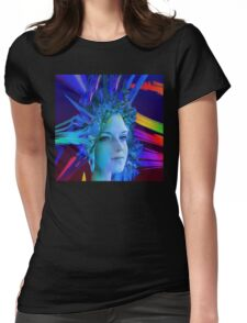 Space Crystal  Womens Fitted T-Shirt