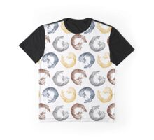 Falling/Sleeping Cat Graphic T-Shirt