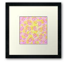 Kawaii Colorful Cat Heads Forever Framed Print