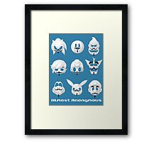 Almost anonymous Framed Print