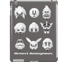 Almost anonymous iPad Case/Skin