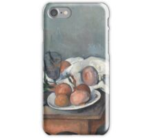 Paul Cezanne - Still Life with Onions 1896 - 1898 iPhone Case/Skin