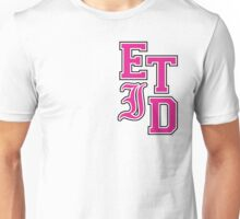 Every Time I Die - Varsity Letters (Pink in Black) Unisex T-Shirt