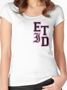 Every Time I Die - Varsity Letters (Black in Pink) Women's Fitted Scoop T-Shirt