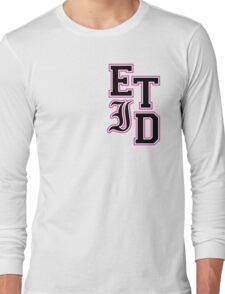 Every Time I Die - Varsity Letters (Black in Pink) Long Sleeve T-Shirt
