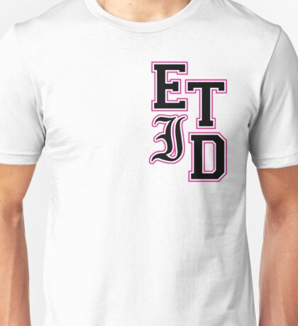 Varsity Letters (Black in Pink) Unisex T-Shirt