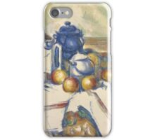 Paul Cezanne - Still Life with Blue Pot  1900 - 1906 iPhone Case/Skin
