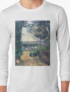 Paul Cezanne - Road leading to the lake 1880 Long Sleeve T-Shirt