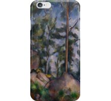 Paul Cezanne - Pines and Rocks Fontainebleau 1897 iPhone Case/Skin