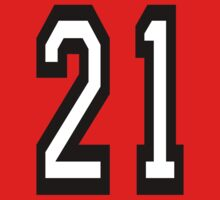 21, TEAM SPORTS, NUMBER 21, TWENTY ONE, TWENTY FIRST, TWO, ONE, Competition,  One Piece - Short Sleeve