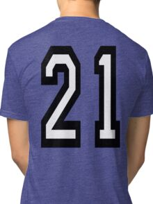 21, TEAM SPORTS, NUMBER 21, TWENTY ONE, TWENTY FIRST, TWO, ONE, Competition,  Tri-blend T-Shirt