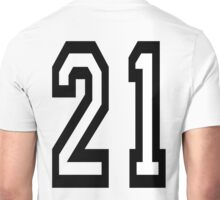21, TEAM SPORTS, NUMBER 21, TWENTY ONE, TWENTY FIRST, TWO, ONE, Competition,  Unisex T-Shirt