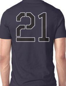 21, TEAM, SPORTS, NUMBER 21, TWENTY ONE, TWENTY FIRST, TWO, ONE, Stencil, Competition,  Unisex T-Shirt