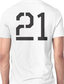 21, TEAM, SPORTS, NUMBER 21, TWENTY ONE, TWENTY FIRST, TWO, ONE, Stencil, Competition,  Unisex T-Shirt