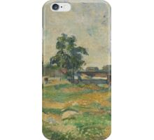 Paul Cezanne - Landscape near Paris  1876 iPhone Case/Skin