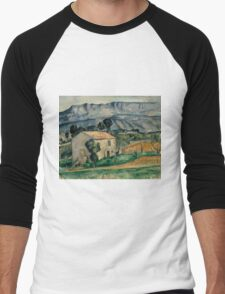 Paul Cezanne - House in Provence 1886-1890 Impressionism  Landscape Men's Baseball ¾ T-Shirt