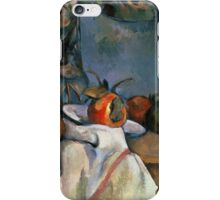 Paul Cezanne - Ginger Pot with Pomegranate and Pears 1893 Impressionism  Still Life iPhone Case/Skin