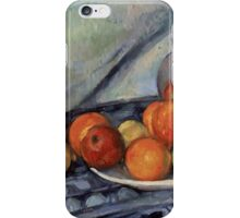 Paul Cezanne - Fruit and a Jug on a Table  Impressionism  Still Life iPhone Case/Skin