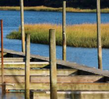 Autumn at the Nissequogue Boat Slips Sticker