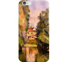 Paul Cezanne - Country House by a River  Impressionism  Still Life iPhone Case/Skin