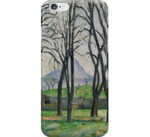 Paul Cezanne - Chestnut Trees at Jas de Bouffan Impressionism  Still Life iPhone Case/Skin