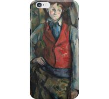 Paul Cezanne - Boy in a Red Waistcoat 1888 - 1890 iPhone Case/Skin