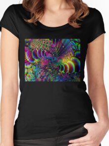 Psychedelic Visions Women's Fitted Scoop T-Shirt