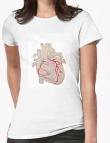Arterial supply of the heart  Womens Fitted T-Shirt